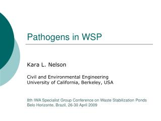 Pathogens in WSP