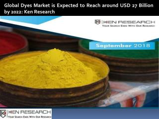 Global Dyes Market, India Dyes Production, US Dyes Industry, UK Dyes Industry-Ken Research