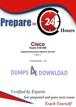 Cisco 210-260 Exam Dumps Updated - 2018 - Dumps4Download