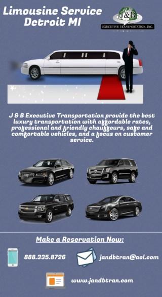 Limousine Service Detroit MI - J & B Executive Transportation