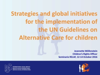 International Child Welfare in a Global Economy