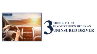 What To Do When You're Hit By An Uninsured Driver