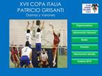 XVII COPA ITALIA  PATRICIO GRISANTI Damas y Varones