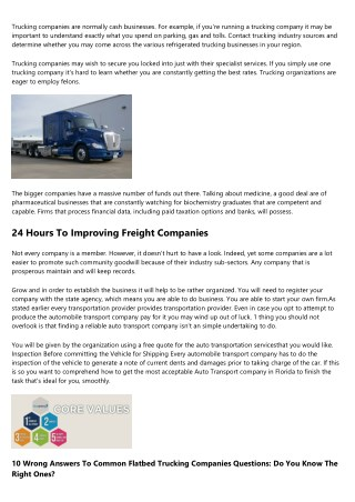 10 Best Facebook Pages Of All Time About Carrier One Trucking Company
