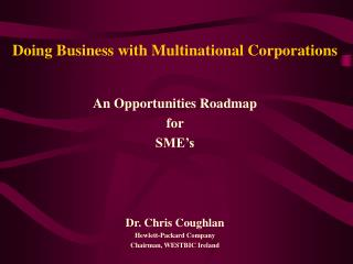 Doing Business with Multinational Corporations