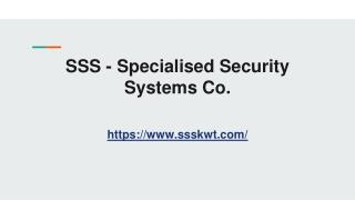 Specialised Security Systems SSS