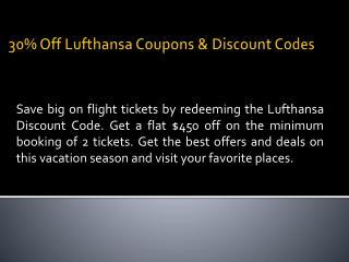 Travel deals, top flight offers - Lufthansa