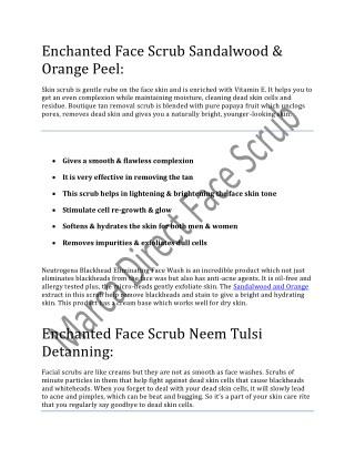 skin scrub products