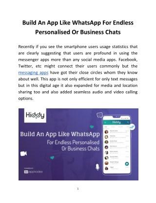 Hiddy-WhatsApp Clone Script