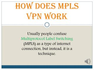 How Does Mpls Vpn Work