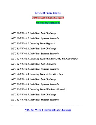 NTC 324 RANK Education for Service--ntc324rank.com