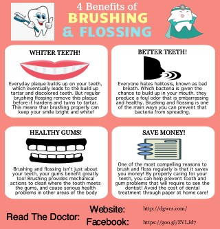 Benefits of brushing and flossing