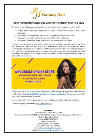Flip in Human Hair Extensions Online to Transform Your Hair Style