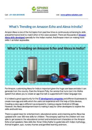 What's Trending on Amazon Echo and Alexa in India?