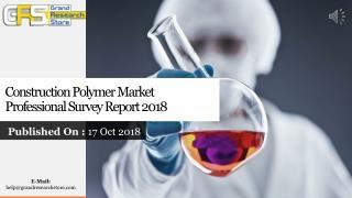 Construction Polymer Market Professional Survey Report 2018