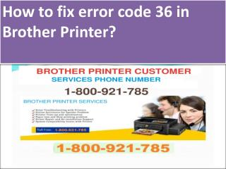 How to fix error code 36 in Brother Printer?