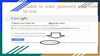 Rest password with code by text