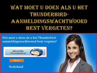 Wat moet u doen als u het Thunderbird-aanmeldingswachtwoord bent vergeten?