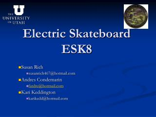Electric Skateboard ESK8