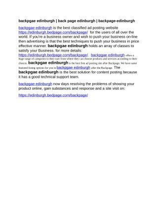 backpgae edinburgh   back page edinburgh