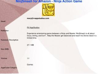 NinjSmash for Amazon - Ninja Action Game