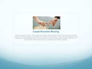 Your Couple Bracelets Meaning