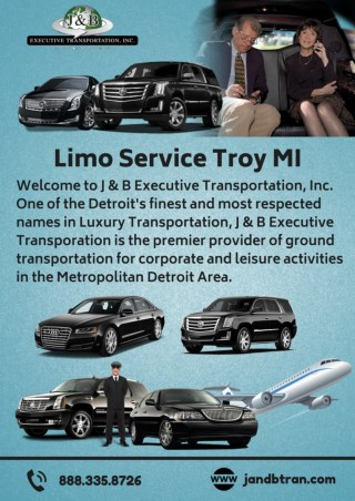 Book Limo Service in Troy MI