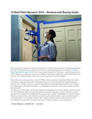 10 Best Paint Sprayers 2018 – Reviews and Buying Guide