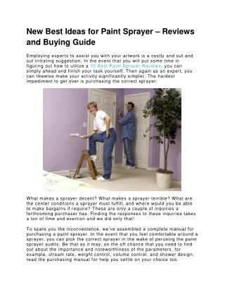 New Best Ideas for Paint Sprayer – Reviews and Buying Guide