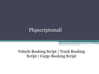 Truck Booking Script | Cargo Booking Script
