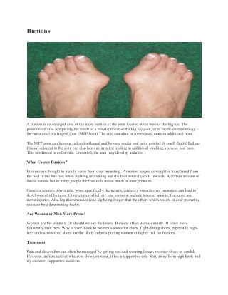 Heel Pain Institute of America Offers Bunion Treatment For The Patients