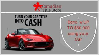 Apply for Car Title Loans Alberta