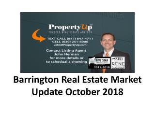 Barrington Real Estate Market Update October 2018