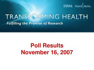 Poll Results November 16, 2007