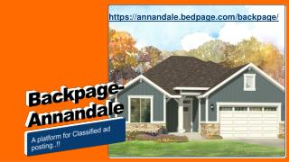 Backpage Annandale a classified website