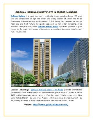 Gulshan Ikebana Luxury Flats In sector 143 Noida