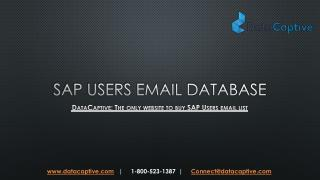 What is the best website to buy SAP Users email list