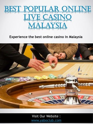 Best Popular Online Live Casino Malaysia