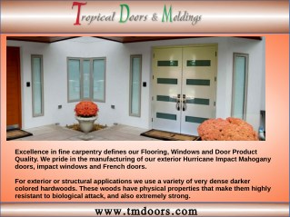 Miami-Dade Approved Impact Doors