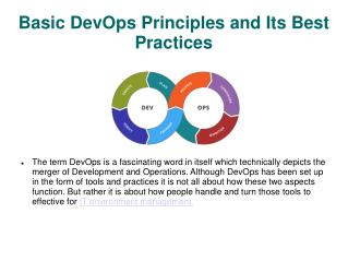 Basic DevOps Principles and Its Best Practices