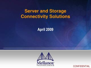 Server and Storage Connectivity Solutions