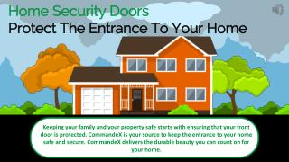 Home Security Doors - Protect The Entrance To Your Home