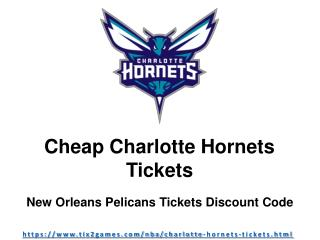 Charlotte Hornets Tickets Discount Code