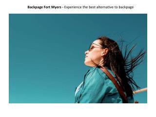 Backpage Fort Myers - Experience the best alternative to backpage