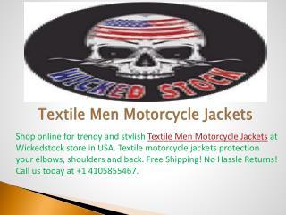 Textile Men Motorcycle Jackets