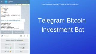Telegram Bitcoin Investment Bot | Telegram Investment Bot | Telegram Bot Script