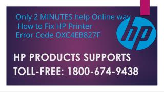 Support number HP Printer Error Code OXC4EB827F