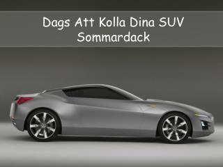 Dags Att Kolla Dina SUV Sommardäck