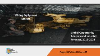 Mining Equipment Market Analyzed by Equipment Type, Application & Global Opportunity and Industry Forecast to 2015-2022