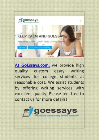 Best Essay Writing Service for College Students
